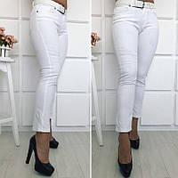 Женские стрейчевые джинсы с ремнем Турция БАТАЛ, фото 1