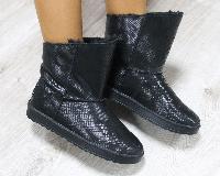 Полусапоги УГГИ женские кожаные черные