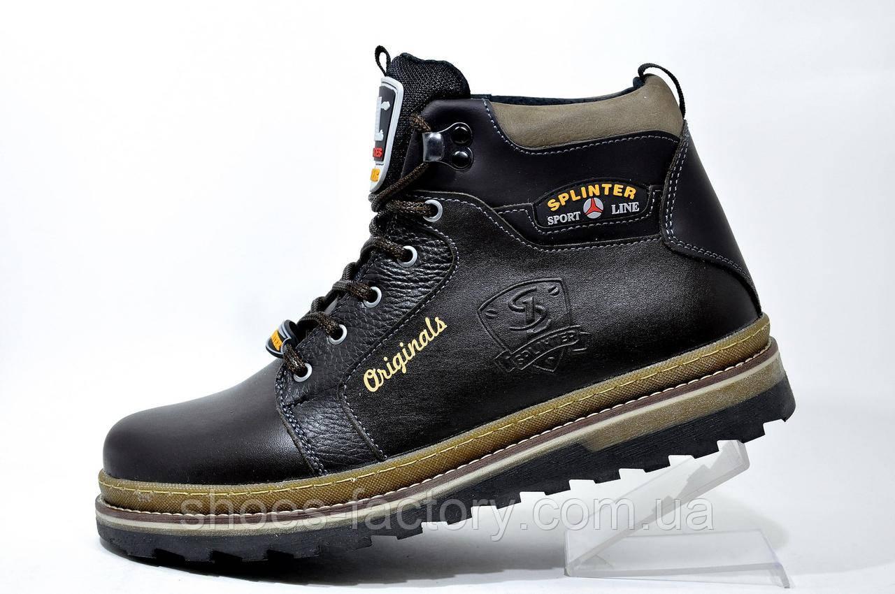 Кожаные ботинки Splinter, с мехом (Brown)