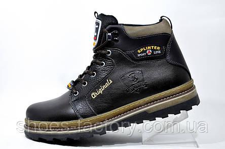 Кожаные ботинки Splinter, с мехом (Brown), фото 2