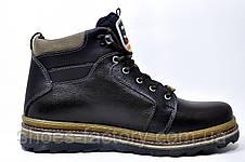 Кожаные ботинки Splinter, с мехом (Brown), фото 3