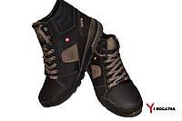 Мужские зимние кожаные ботинки, SPLINTER, коричневые, бежевый шнурок