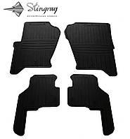 Резиновые коврики Stingray Стингрей Ленд Ровер Дискавери 3 2004- Комплект из 4-х ковриков Черный в салон. Доставка по всей Украине. Оплата при