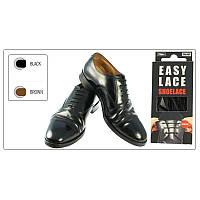 Шнурки круглые  EASY LACE ROUND  - Box 20 шт ( хватает до 10 пар обуви) BLACK