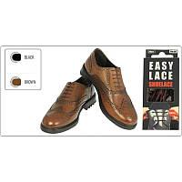 Шнурки круглые  EASY LACE ROUND  - Box 20 шт ( хватает до 10 пар обуви) BROWN