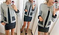 Женский пиджак букле на декоративной застежке, фото 1
