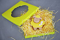 Коробка для пряников, печенья и других изделий, с окошком, салатовая