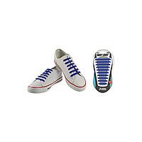 Шнурки плоские EASY LACE FLAT - CARD  20 шт (хватает до 10 пар обуви) BLUE
