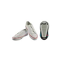 Шнурки плоские EASY LACE FLAT - CARD  20 шт (хватает до 10 пар обуви) WHITE