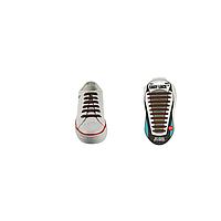 Шнурки плоские EASY LACE FLAT - CARD  20 шт (хватает до 10 пар обуви) BROWN
