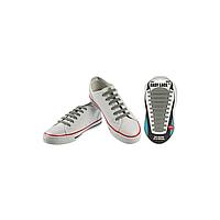 Шнурки плоские EASY LACE FLAT - CARD  20 шт (хватает до 10 пар обуви) GREY