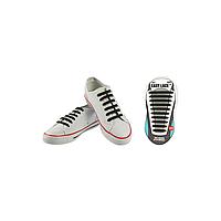 Шнурки плоские EASY LACE FLAT - CARD  20 шт (хватает до 10 пар обуви) BLACK