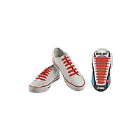 Шнурки плоские EASY LACE FLAT - CARD  20 шт (хватает до 10 пар обуви) RED