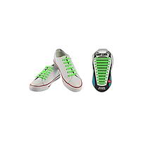 Шнурки плоские EASY LACE FLAT - CARD  20 шт (хватает до 10 пар обуви) GREEN