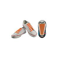Шнурки плоские EASY LACE FLAT - CARD  20 шт (хватает до 10 пар обуви) ORANGE
