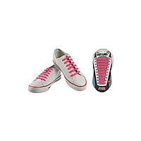 Шнурки плоские EASY LACE FLAT - CARD  20 шт (хватает до 10 пар обуви) PINK