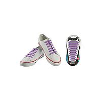 Шнурки плоские EASY LACE FLAT - CARD  20 шт (хватает до 10 пар обуви) PURPLE