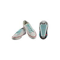 Шнурки плоские EASY LACE FLAT - CARD  20 шт (хватает до 10 пар обуви) SKY-BLUE