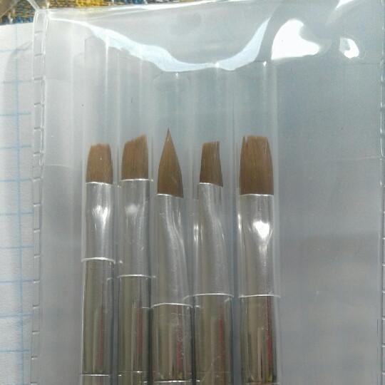 Набор из 5 кистей для дизайна ногтей цветочный принт