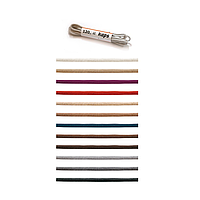 Шнурки круглые тонкие, 60см Ø 2мм Kaps (пара) 83. Светло - серый
