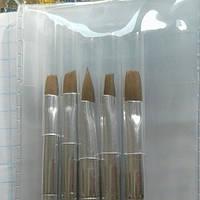 Кисть для наращивания ногтей гелем цветочный принт 1 шт /выберите форму/