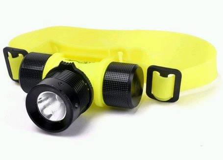 Фонарь светодиодный WD-297 налобный для дайвинга (подводный), фото 2