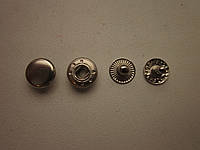 Кнопка альфа 10 мм никель