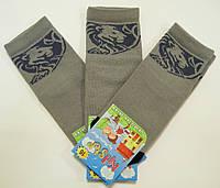 Носки серого цвета с логотипом льва мальчиковые