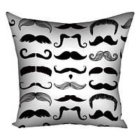 "Подушка (габардин) ""Love mustache"" 50х50 (10 фото)"