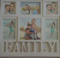 Фоторамка коллаж Family /Семья  6фото (10х10-2,10х15-3,15х15) бел 31v2-2r