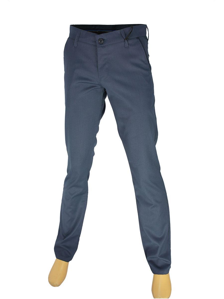 Мужские брючные джинсы  X-Foot 180-3141 темно-синего цвета