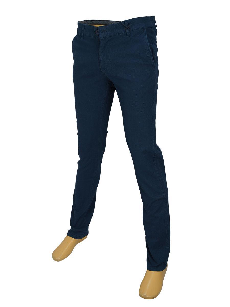 Мужские стильные джинсы X-Foot 170-7034 в темно-синем цвете