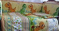 Защита в детскую кроватку+постельный комплектик