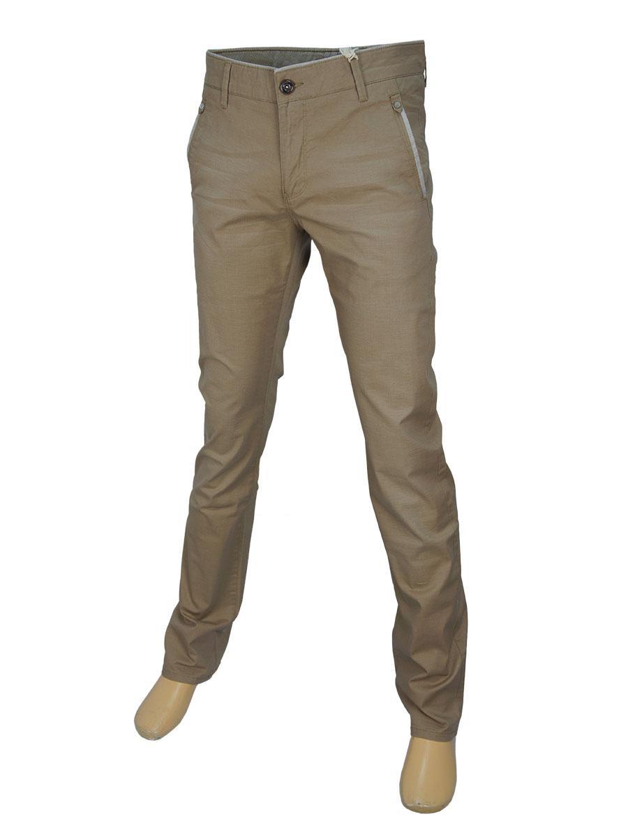 Мужские молодежные джинсы X-Foot 170-1739 бежевого цвета