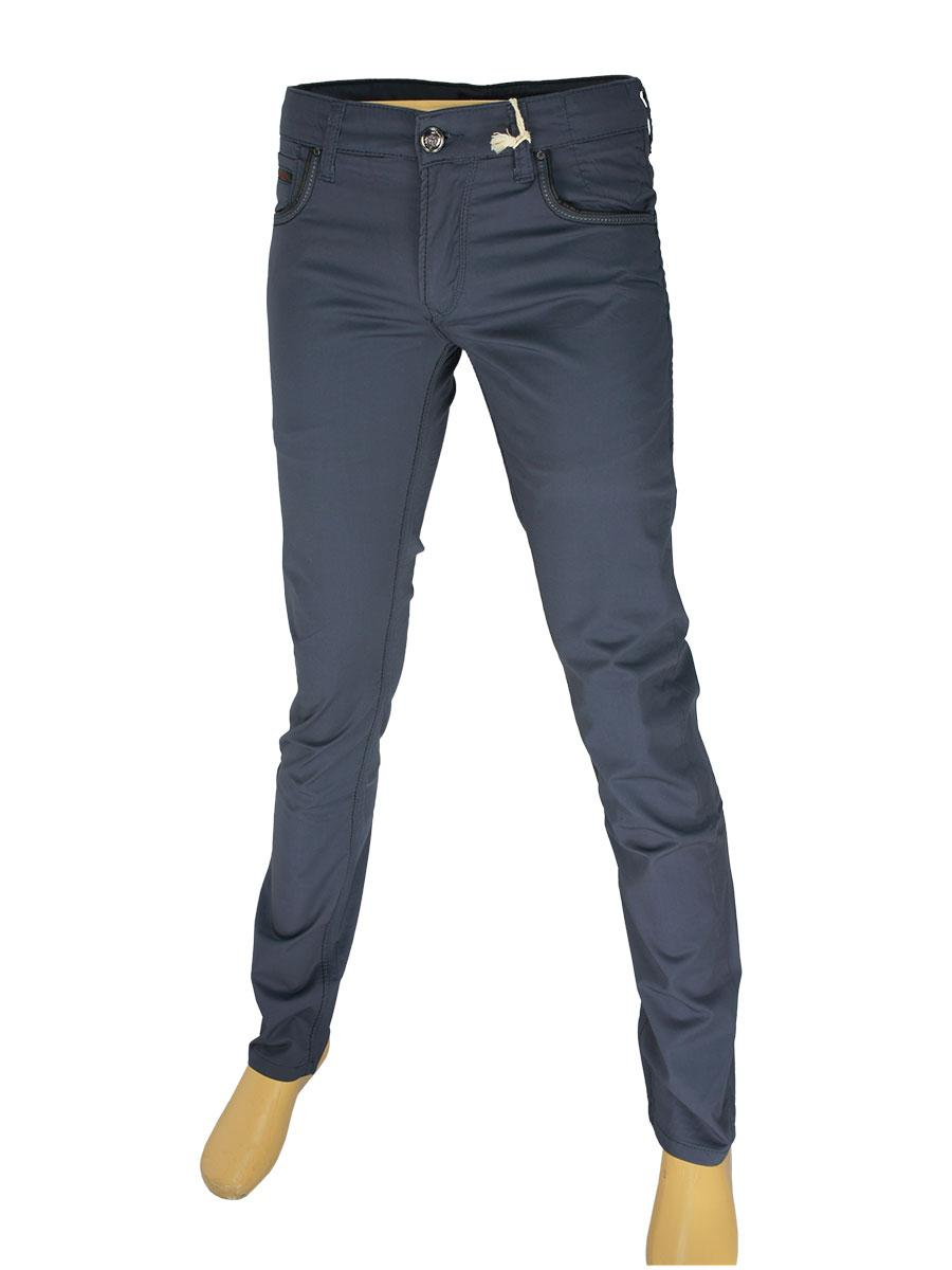 Мужские джинсы X-Foot 261-2026 серого цвета