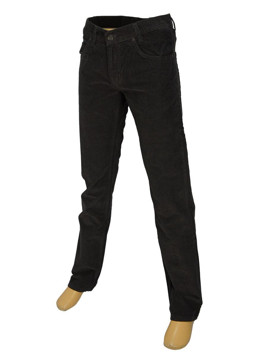 Вельветовые мужские джинсы Cen-cor MD-607-S серого цвета
