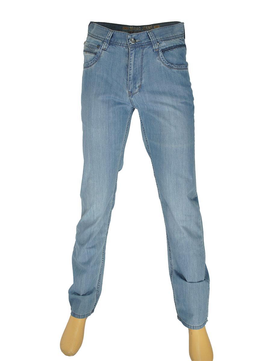Мужские стильные джинсы Mirac M:2347 P.N.206 в голубом цвете