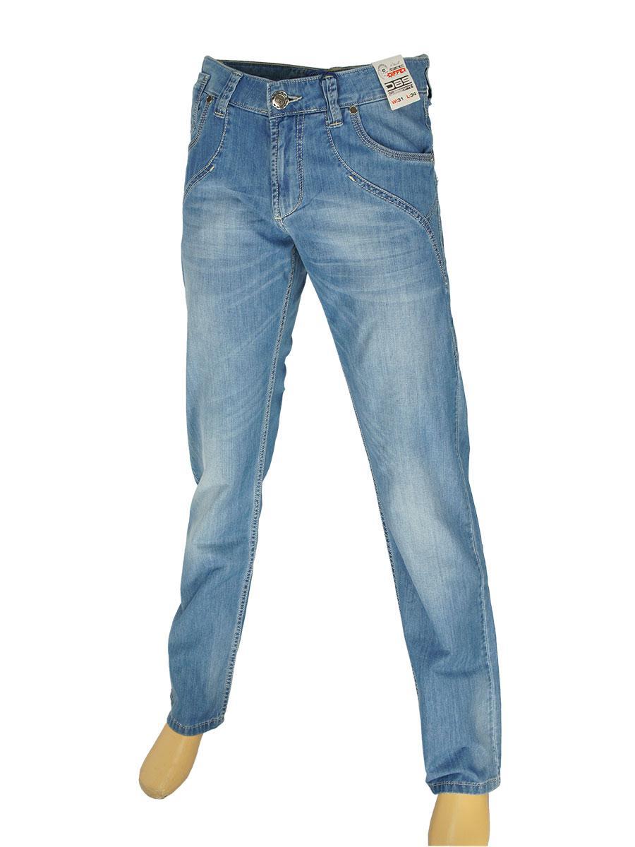 Мужские джинсы Differ E-1613 SP.1382-10 синего цвета