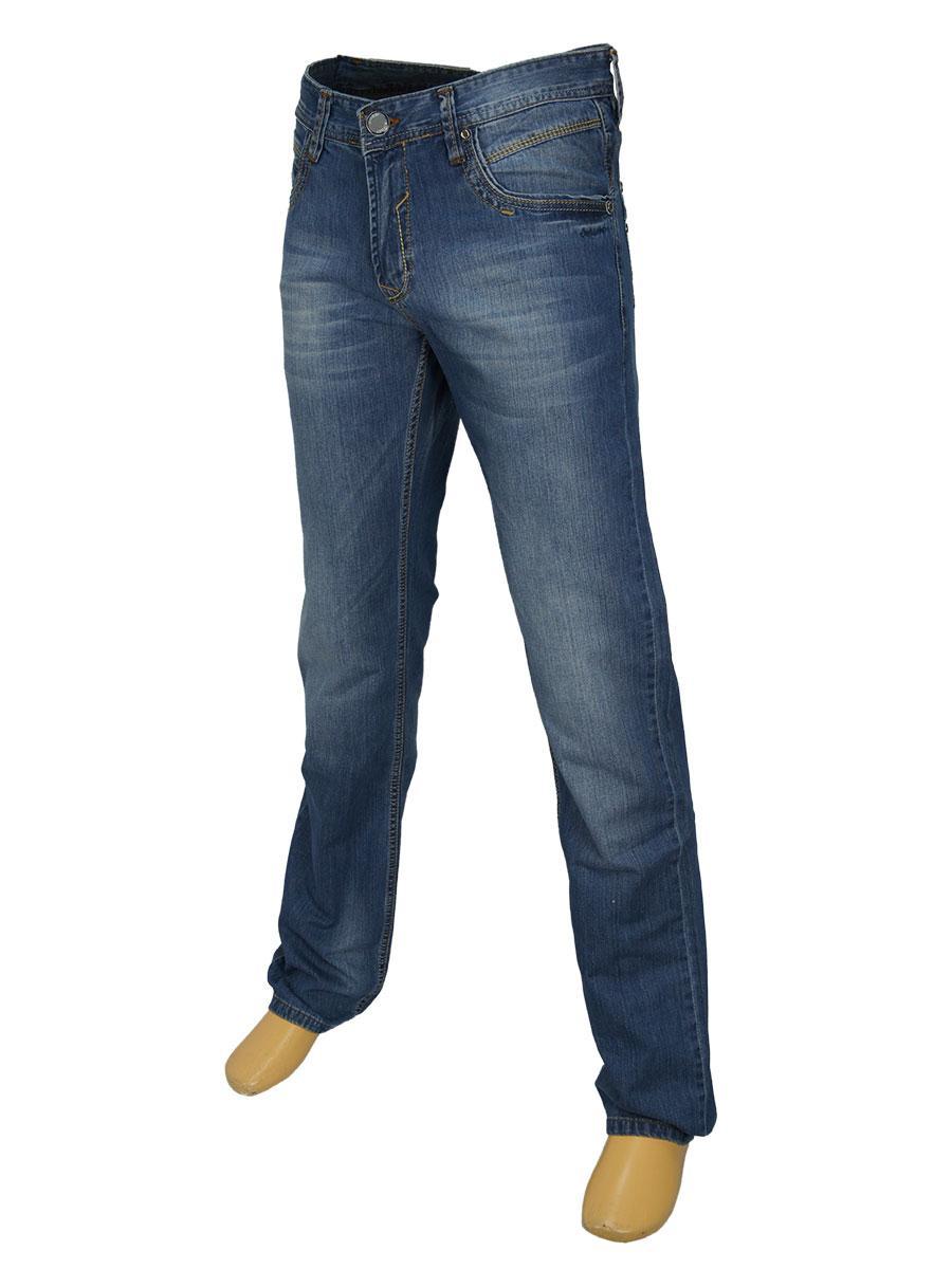 Стильные мужские джинсы X-Foot 1489 в синем цвете