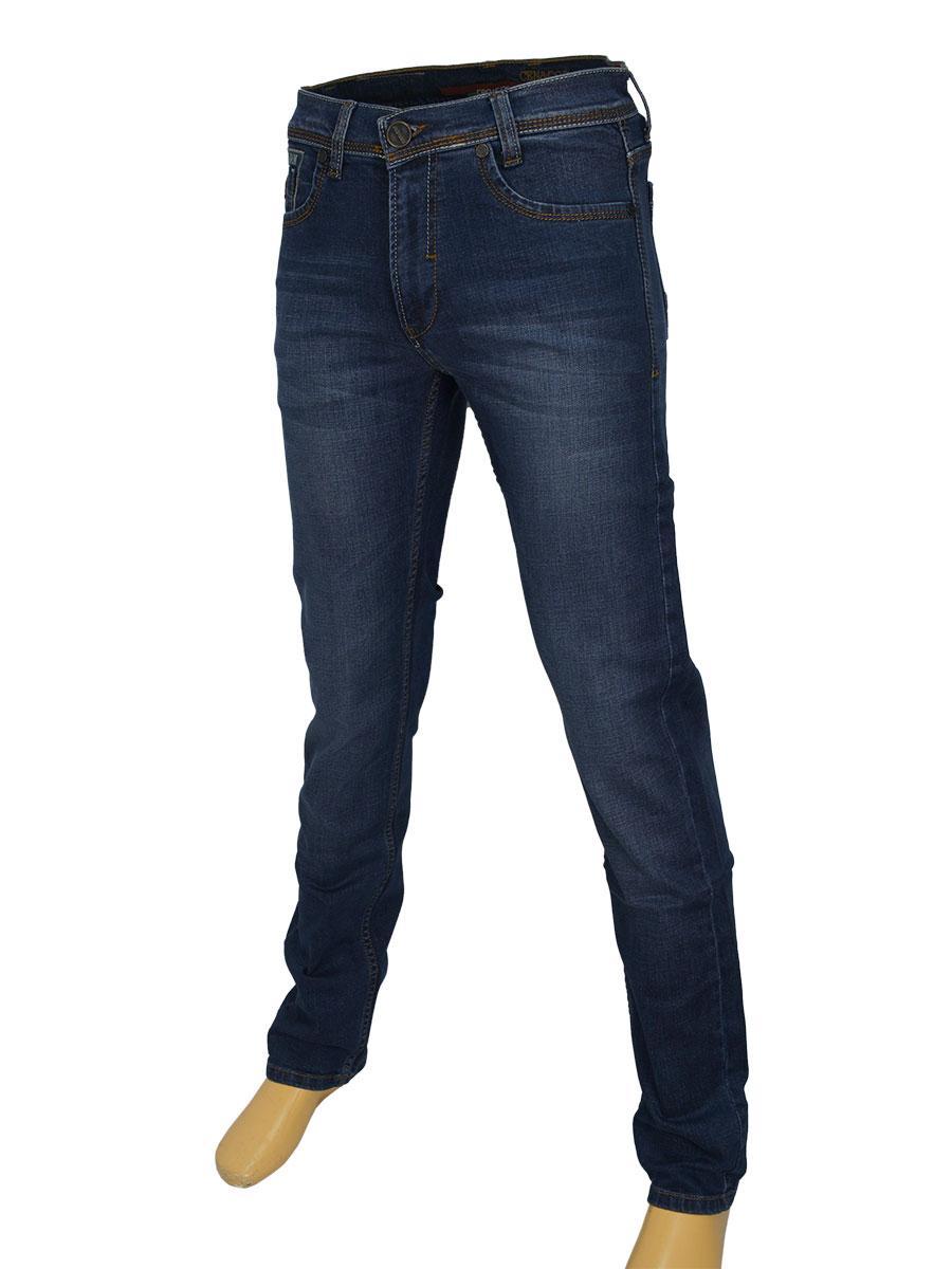 Мужские стильные джинсы Cen-cor CNC-1275 темно-синего цвета