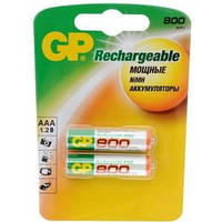 Аккумулятор GP Batteries AAA 800mAh NiMh 2шт (80AAAHC)