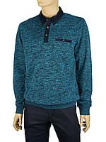 Комбинированный мужской свитер Caporicco 7905 с воротником