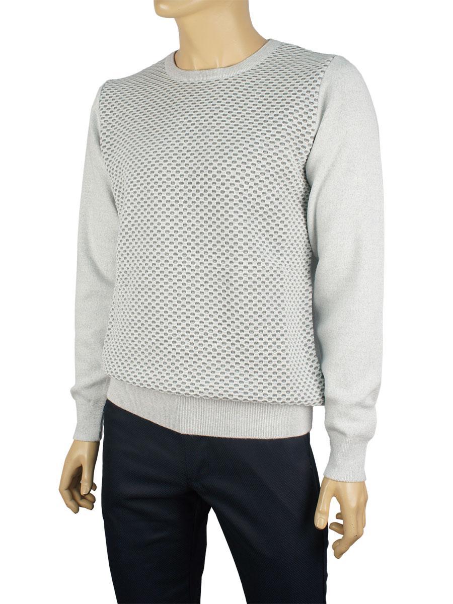 Мужской свитер Yamak 1093 серого цвета