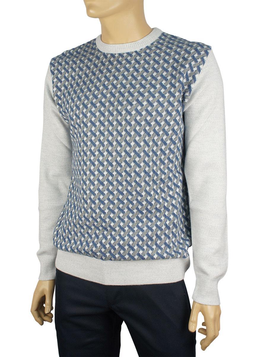 Классический мужской свитер Yamak 1057 в сером цвете
