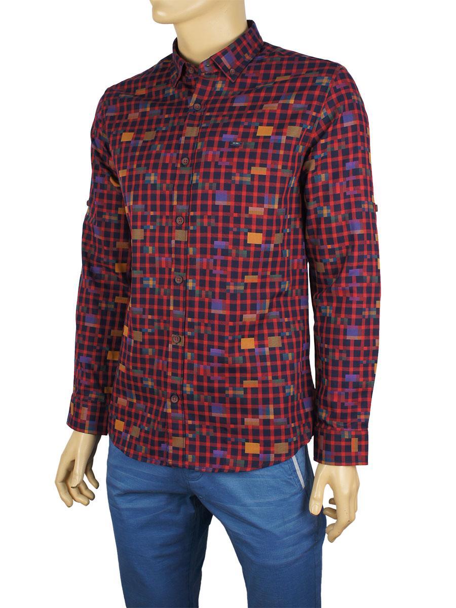 Мужская стильная рубашка NCS 7421
