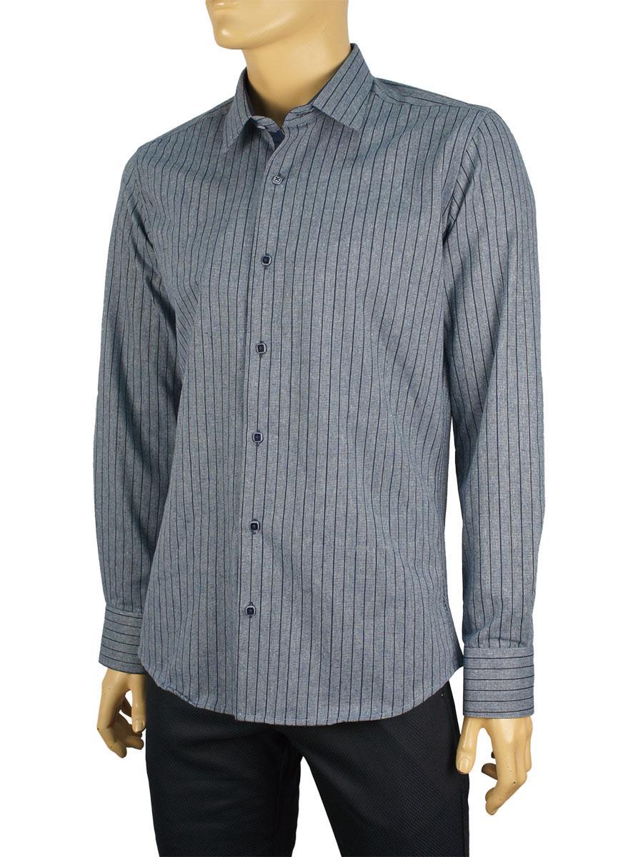 Мужская хлопковая рубашка Negredo 3000-S#15