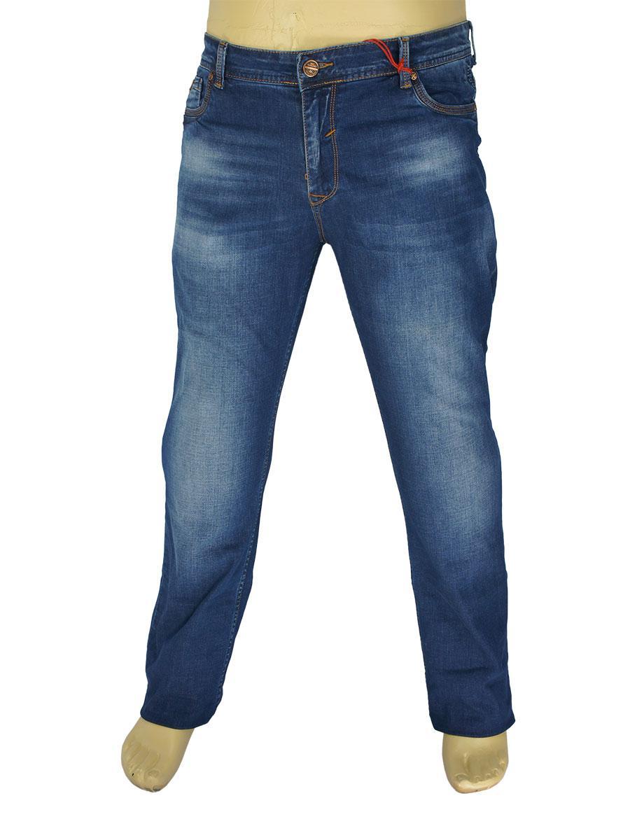 Мужские джинсы X-Foot 140-2281 темно-синего цвета