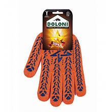 Перчатки DOLONI № 564 оранжевые со звездой