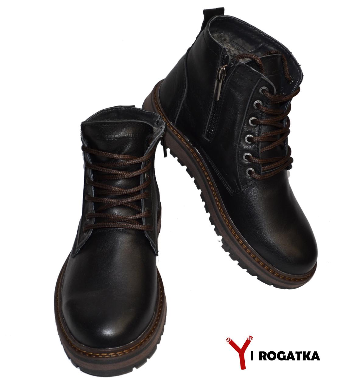 b721a7de3 Подростковые зимние кожаные ботинки, Multi-shoes, черные, прошитые ...