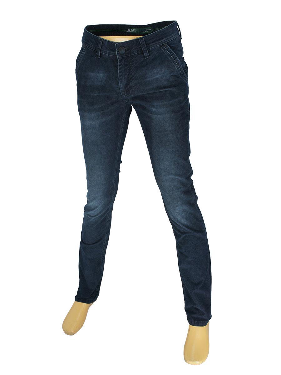 Стильные мужские вельветовые джинсы NCS 154310PN2837 темно-синего цвета